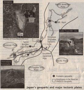 Sites in Itoigawa-Shizuoka Tectonic Line fault zone make bid for UNESCO Global Geopark status