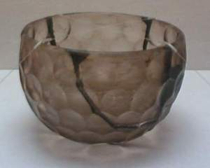 6th C tumuli Emperor Ankan glass bowl kofun