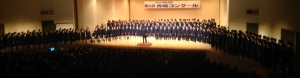 A school gassho singing competition